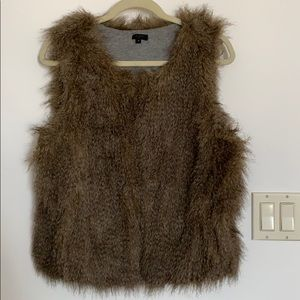 JCrew faux fur vest